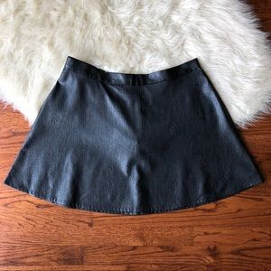 AEO Faux Leather Skater Skirt